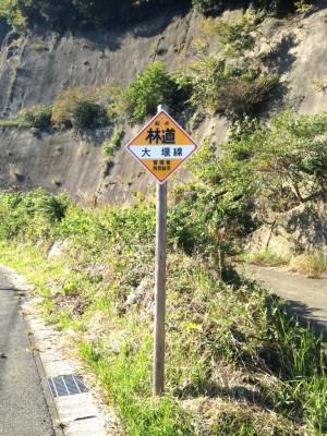 大堰線:林道標